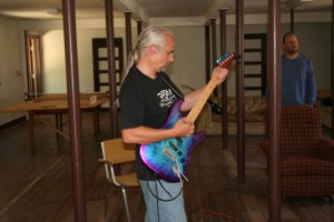Joe with his aluminum Stratocaster!